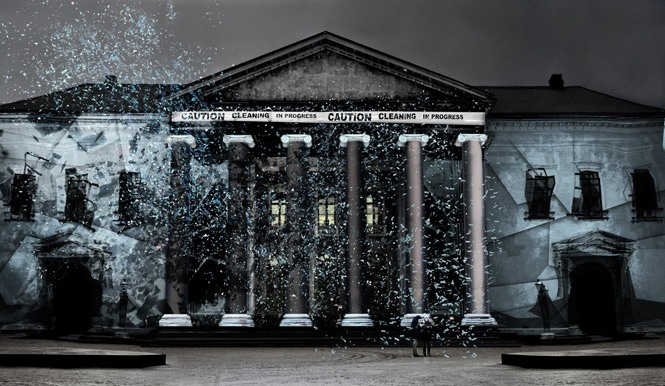 Anmeldelse: I demokratiets navn, Steen & Hejlesen med Den Sorte Skole (installation)