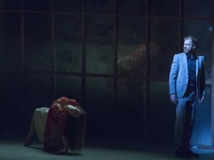 Selene Muñoz og Morten Hemmingsen i musicalen '(B)romance' på Sceneriet under Det Ny Teater.  Foto: Det Ny Teater