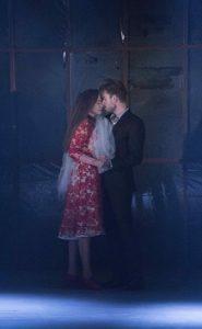 Selene Muñoz og Johannes Nymark i musicalen '(B)romance' på Sceneriet under Det Ny Teater. Foto: Det Ny Teater