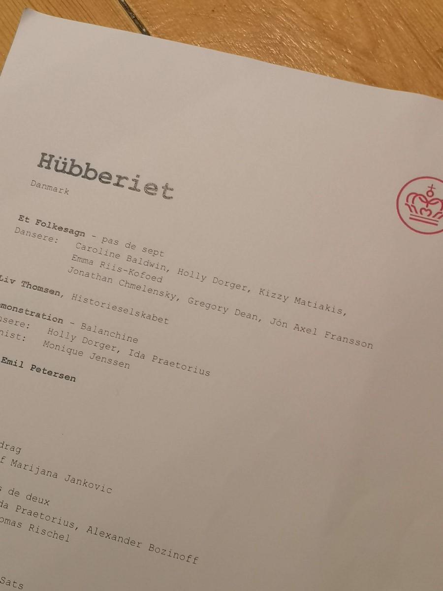 Anmeldelse: Hübberiet 1 (2020), Det Kongelige Teater